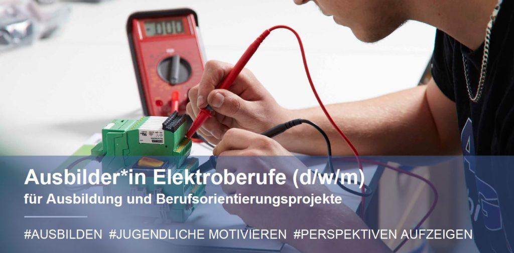Stellenausschreibung Ausbilder Elektroberufe